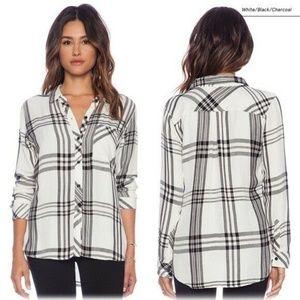 Rails Womens Shirt Hunter Plaid Long Sleeve XS